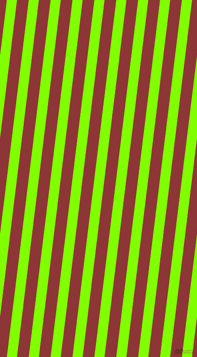 83 degree angle lines stripes, 20 pixel line width, 23 pixel line spacing, Chartreuse and Well Read stripes and lines seamless tileable