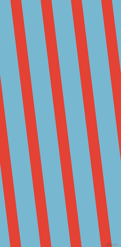 97 degree angle lines stripes, 35 pixel line width, 63 pixel line spacing, Cinnabar and Seagull stripes and lines seamless tileable