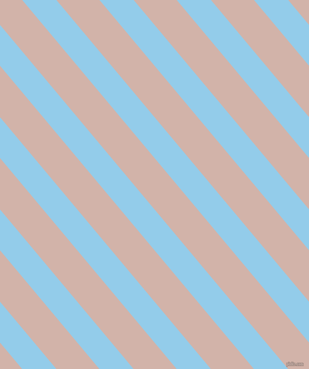 130 degree angle lines stripes, 54 pixel line width, 68 pixel line spacing, Cornflower and Clam Shell stripes and lines seamless tileable