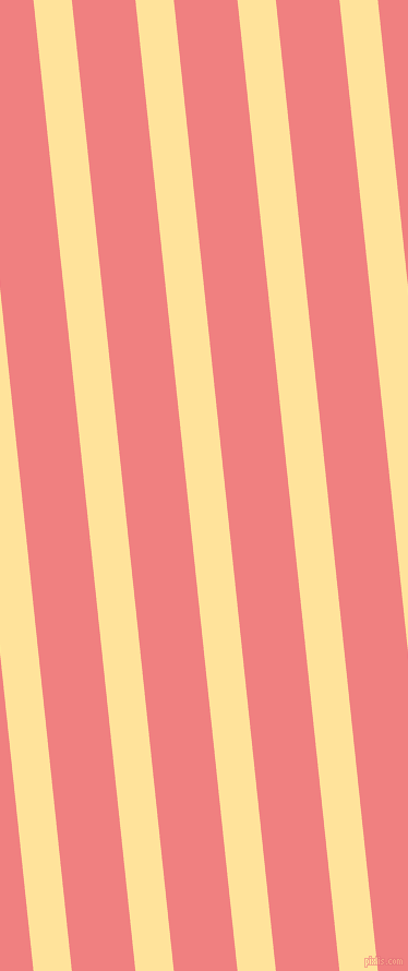 96 degree angle lines stripes, 35 pixel line width, 58 pixel line spacing, Cream Brulee and Light Coral stripes and lines seamless tileable