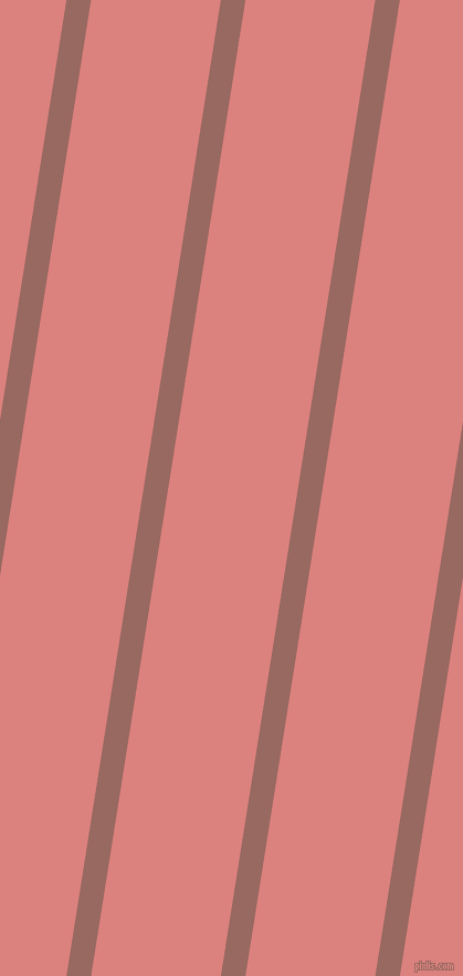 81 degree angle lines stripes, 22 pixel line width, 116 pixel line spacing, Dark Chestnut and Sea Pink stripes and lines seamless tileable