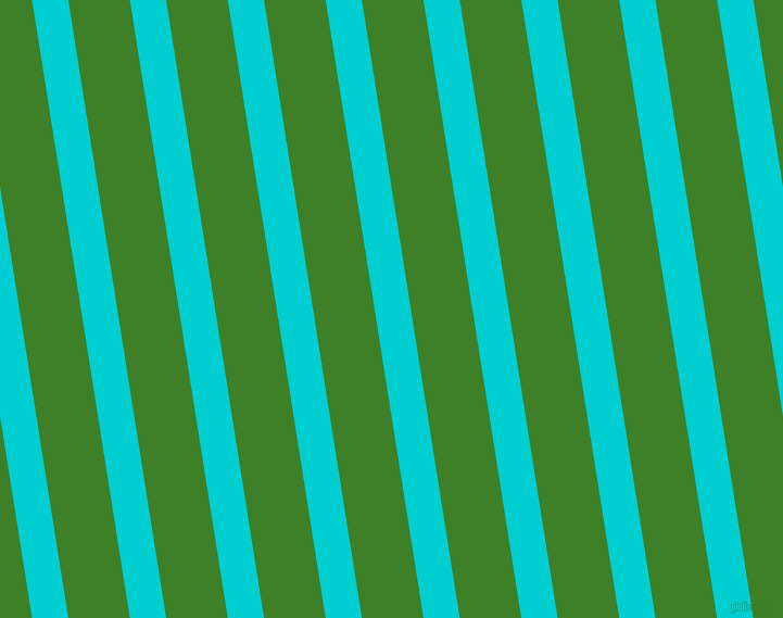 99 degree angle lines stripes, 33 pixel line width, 56 pixel line spacing, Dark Turquoise and Bilbao stripes and lines seamless tileable