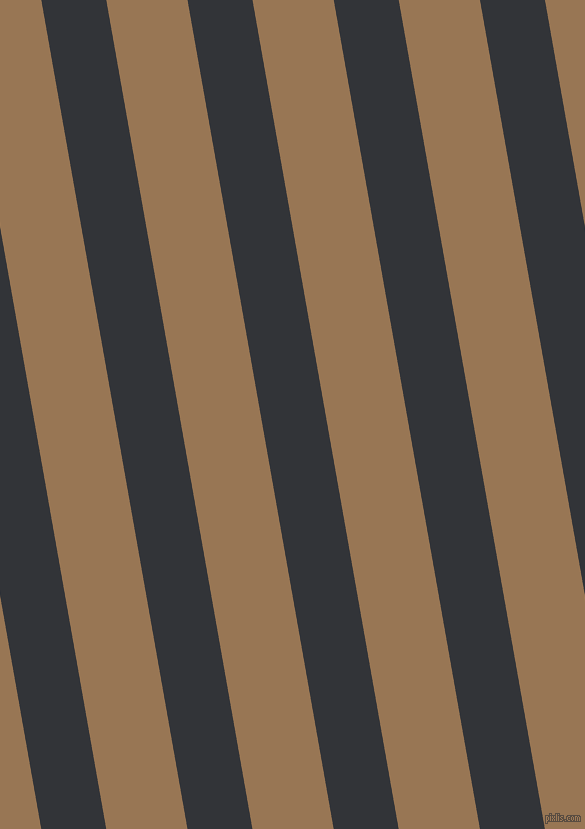 100 degree angle lines stripes, 64 pixel line width, 80 pixel line spacing, Ebony Clay and Pale Brown stripes and lines seamless tileable