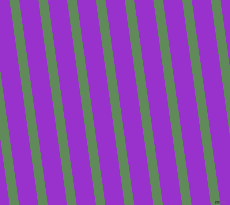 98 degree angle lines stripes, 31 pixel line width, 62 pixel line spacing, Hippie Green and Dark Orchid stripes and lines seamless tileable