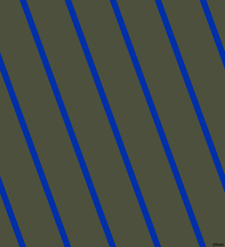 110 degree angle lines stripes, 20 pixel line width, 118 pixel line spacing, International Klein Blue and Kelp stripes and lines seamless tileable