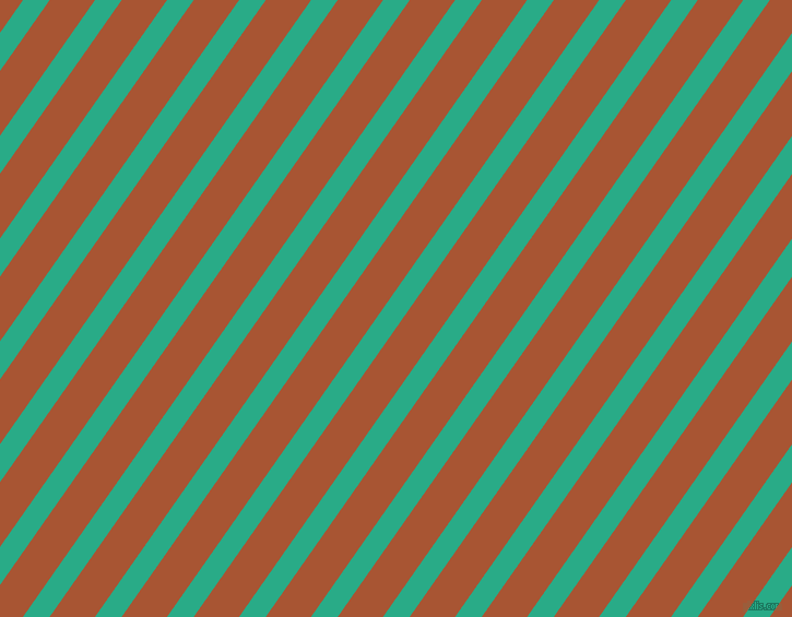 55 degree angle lines stripes, 20 pixel line width, 34 pixel line spacing, Jungle Green and Vesuvius stripes and lines seamless tileable
