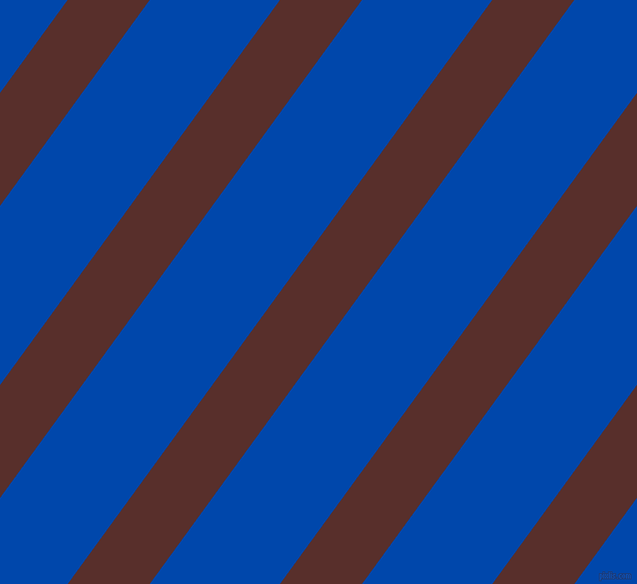 54 degree angle lines stripes, 73 pixel line width, 116 pixel line spacing, Moccaccino and Cobalt stripes and lines seamless tileable