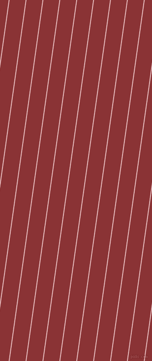 82 degree angle lines stripes, 2 pixel line width, 32 pixel line spacing, Pale Chestnut and Old Brick stripes and lines seamless tileable