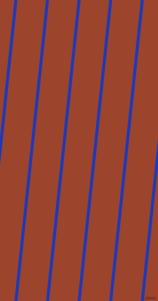 84 degree angle lines stripes, 10 pixel line width, 96 pixel line spacing, Persian Blue and Rock Spray stripes and lines seamless tileable