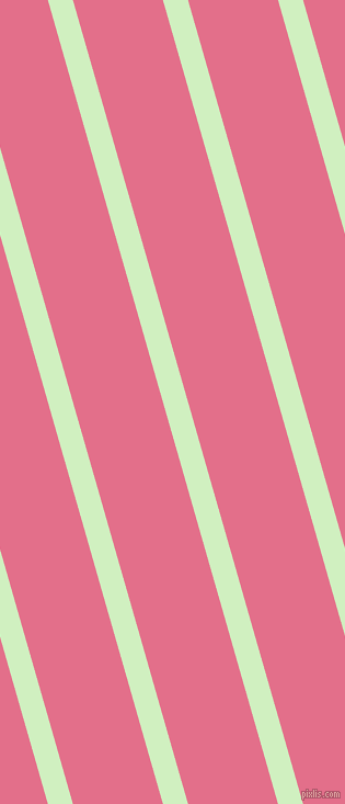 106 degree angle lines stripes, 22 pixel line width, 79 pixel line spacing, Tea Green and Deep Blush stripes and lines seamless tileable