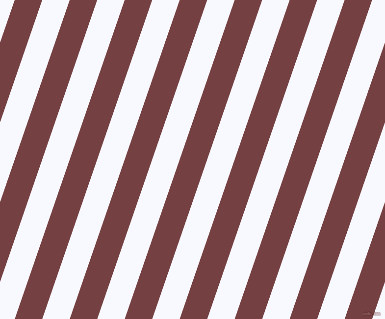 71 degree angle lines stripes, 53 pixel line width, 53 pixel line spacing, Tosca and Ghost White stripes and lines seamless tileable