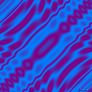 Dodger Blue and Purple wavy plasma ripple seamless tileable