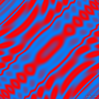 , Dodger Blue and Red wavy plasma ripple seamless tileable